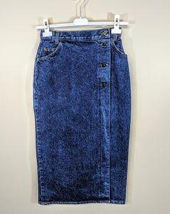 Forenza Denim Wrap Skirt